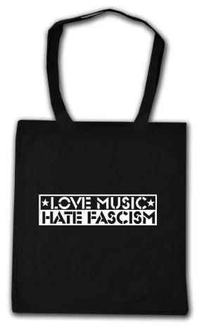 Baumwoll-Tragetasche: Love Music Hate Fascism