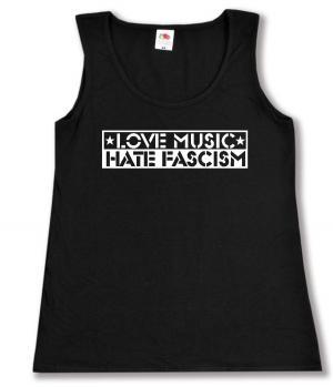 Woman Tanktop: Love Music Hate Fascism