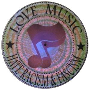 Vinyl Stencil: Love Music - Hate Racism and Fascism