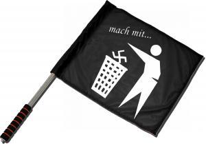 Fahne / Flagge (ca. 40x35cm): Mach mit ...