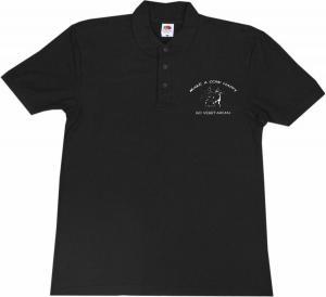 Polo-Shirt: Make a Cow happy - Go Vegetarian