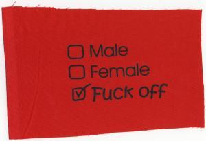 Aufnäher: Male Female Fuck off