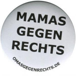 25mm Button: Mamas gegen Rechts