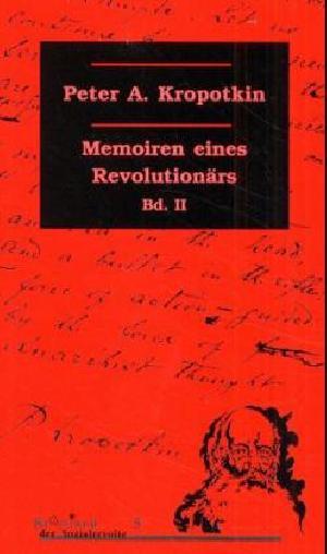 Buch: Memoiren eines Revolutionärs Band II