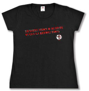tailliertes T-Shirt: Menstruation o muerte