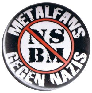 37mm Button: Metalfans gegen Nazis (NSBM)