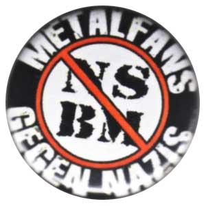 25mm Magnet-Button: Metalfans gegen Nazis (NSBM)