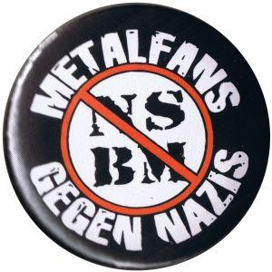 37mm Magnet-Button: Metalfans gegen Nazis (NSBM)