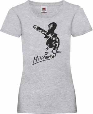 tailliertes T-Shirt: Militant