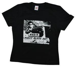 tailliertes T-Shirt: Nazis, passt bloss auf