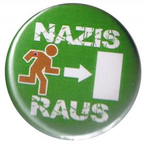 37mm Magnet-Button: Nazis raus