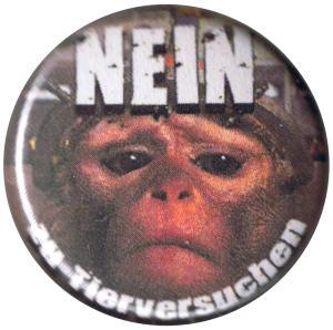 25mm Button: Nein zu Tierversuchen