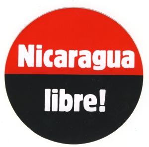 Aufkleber: Nicaragua libre!