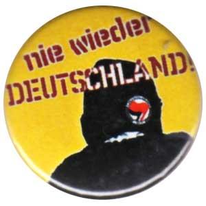 25mm Button: Nie wieder Deutschland!