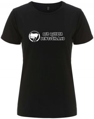 tailliertes Fairtrade T-Shirt: Nie wieder Deutschland