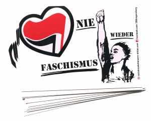 Aufkleber-Paket: Nie wieder Faschismus