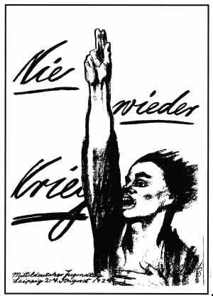 Postkarte: Nie wieder Krieg