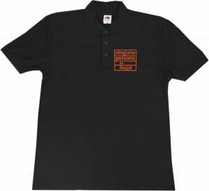 Polo-Shirt: ninguna persona es ilegal