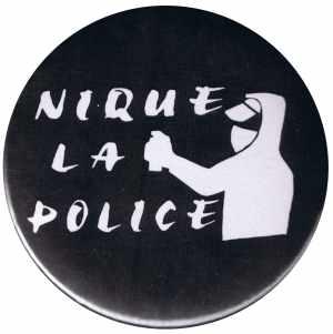 25mm Button: Nique La Police