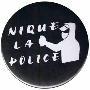 50mm Magnet-Button: Nique La Police