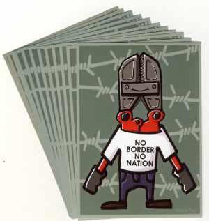 Aufkleber-Paket: No Border, No Nation
