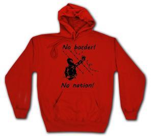 Kapuzen-Pullover: No Border! No Nation! (m)