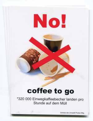 Aufkleber-Paket: No! coffee to go