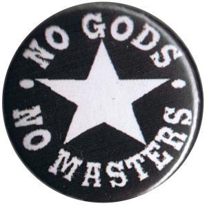 25mm Magnet-Button: No Gods No Masters