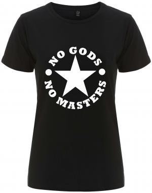 tailliertes Fairtrade T-Shirt: No Gods No Masters