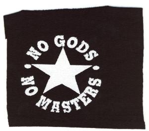 Aufnäher: No gods no masters