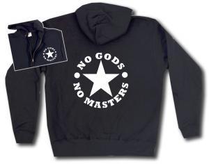 Kapuzen-Jacke: No Gods No Masters