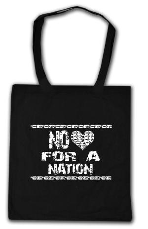 Baumwoll-Tragetasche: No heart for a nation