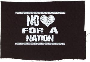 Aufnäher: No heart for a nation