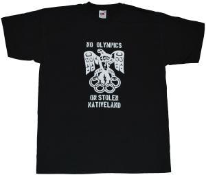 T-Shirt: No Olympics on stolen Native Land