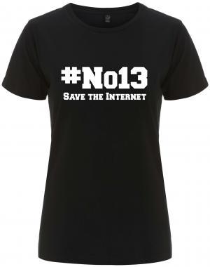 tailliertes Fairtrade T-Shirt: #no13