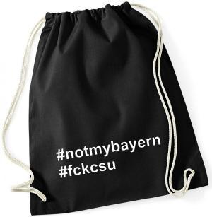 Sportbeutel: #notmybayern #fckcsu
