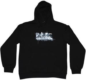 Kapuzen-Pullover: Offensiv black