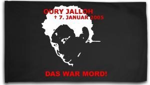 Fahne / Flagge (ca. 150x100cm): Oury Jalloh - 7. Januar 2005