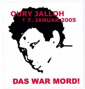 Aufkleber: Oury Jalloh - 7. Januar 2005