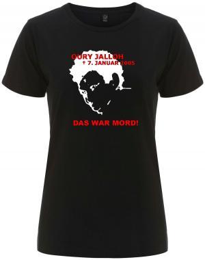 tailliertes Fairtrade T-Shirt: Oury Jalloh - 7. Januar 2005