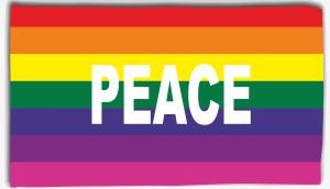 Fahne / Flagge (ca. 150x100cm): Pace / Peace
