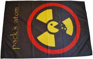 Fahne / Flagge (ca. 150x100cm): pack's atom