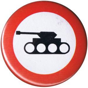 50mm Magnet-Button: Panzer verboten