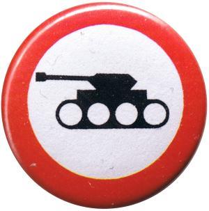 25mm Magnet-Button: Panzer verboten