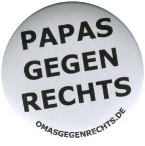 25mm Magnet-Button: Papas gegen Rechts
