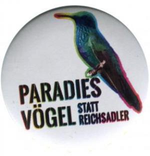 25mm Magnet-Button: Paradiesvögel statt Reichsadler