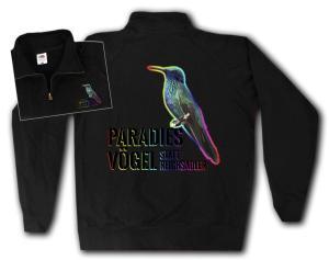 Sweat-Jacket: Paradiesvögel statt Reichsadler