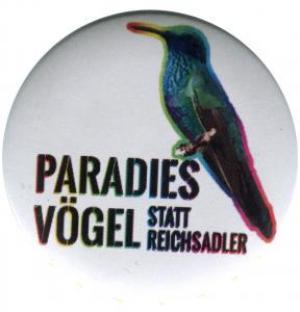 37mm Button: Paradiesvögel statt Reichsadler