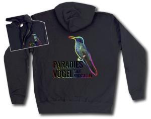 Kapuzen-Jacke: Paradiesvögel statt Reichsadler