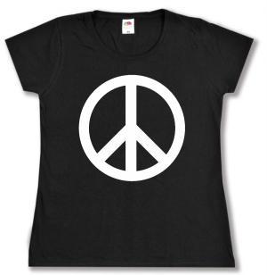tailliertes T-Shirt: Peacezeichen